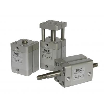 Compact Cylinders double acting magnetic piston through rod Bore 20 Stroke 80