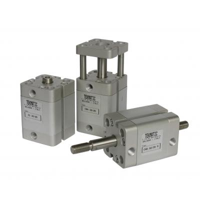 Compact Cylinders double acting magnetic piston through rod Bore 50 Stroke 25