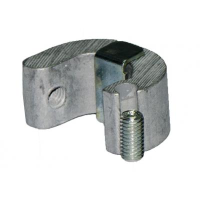 Plastic fixing clamps DSM1C for cylinders ISO 15552 con camicia estrusa Bore 80-100