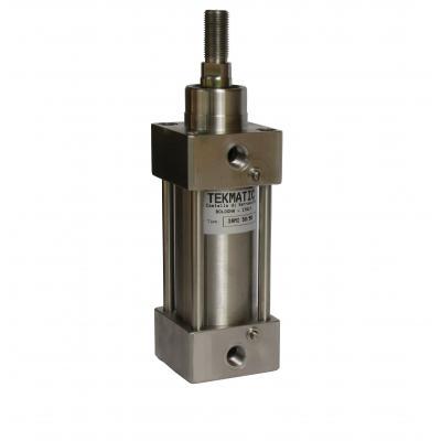 Cilindro inox ISO15552 doppio eff. ammort. magn. Alesaggio 32 Corsa 100