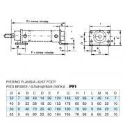 Piedino Flangia (coppia) in acciaio inox Ales. 32 per cilindro CP96 inox