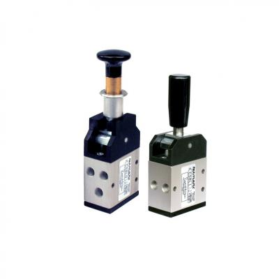 Pneumatically operated spool valves 5/3 way 1/8G a 2 Stable position