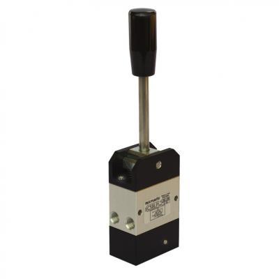 Comando pneumatico a leva 5/3 vie proporzionale 1/8G - 1 posizione stabile