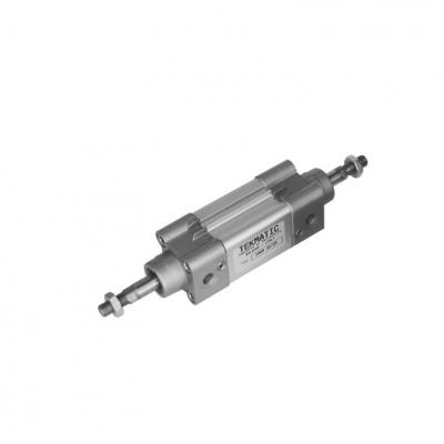 Cylinders double acting cushioned through rod ISO 15552 Bore 100 Stroke 25
