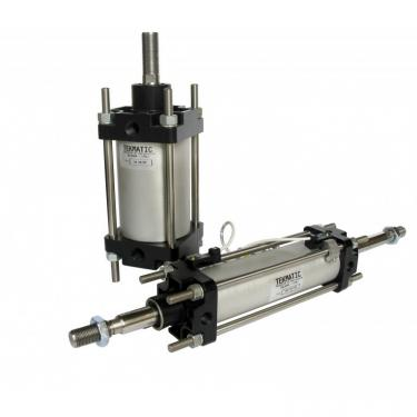 Cylinders double acting cushioned through rod CNOMO Bore 40 Stroke 50