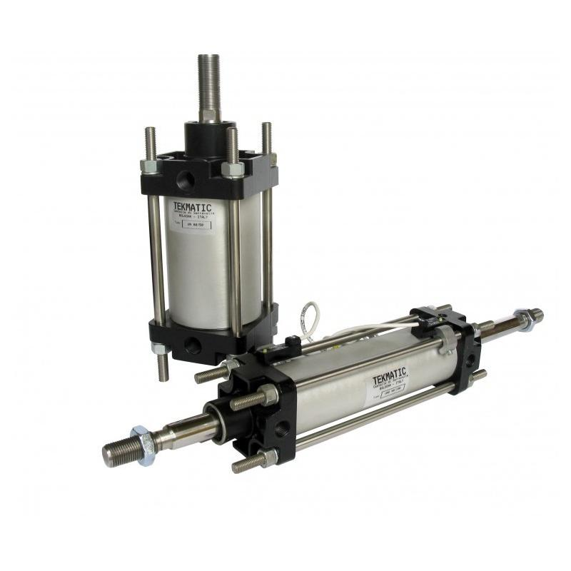 Cylinders double acting cushioned through rod CNOMO Bore 40 Stroke 100