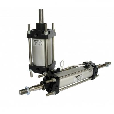 Cylinders through rod double acting cushioned magnetic piston CNOMO Bore 125 Stroke 125