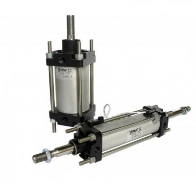 Cylinders through rod double acting cushioned magnetic piston CNOMO Bore 125 Stroke 600
