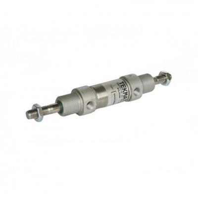 Minicilindro stelo passante semplice eff. ISO 6432 Ales 10 Corsa 50