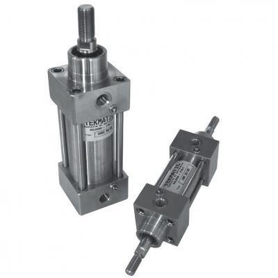 Cilindro Inox ISO 15552 Stelo Passante dopp. eff. amm. magn. Ales 100 Cor 80