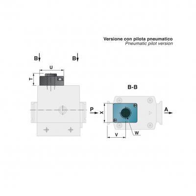 "Slow start valve G. 1/4"" c valv. scar. G. 1/4"" Pneumatic pilot"