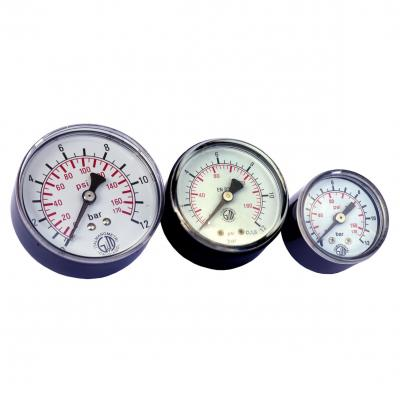 Pressure gauges Diam. 63 mm 0-6 BAR Connection 1/4 Psi 0-86