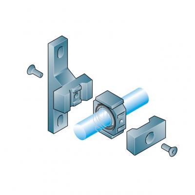 Complete T shape middling bracket G10 mm