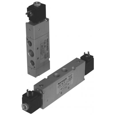Solenoid spool valves a 5/2 way 1/4G 1 stable position with coil