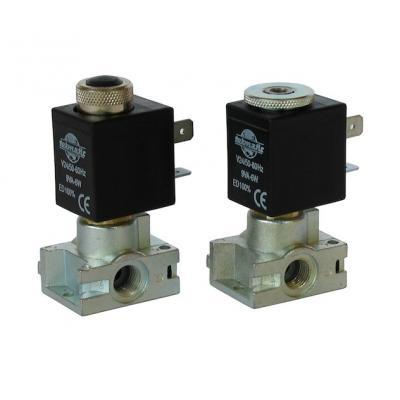 Elettrovalvola a 3/2 vie NC 1/8G pass.1,3 mm com. manuale con bobina B1