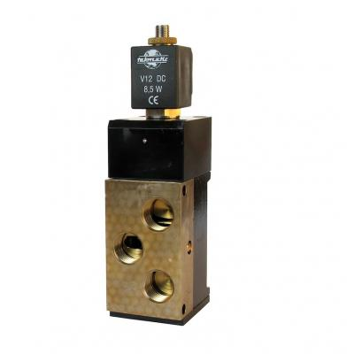 Solenoid valves 4/2 way 1 stable position 1/2G with coil with manual control M2