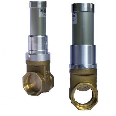 """Valvola a saracinesca 2/vie in linea 1-1/2"""" attuatore pneumatico doppio effetto"""