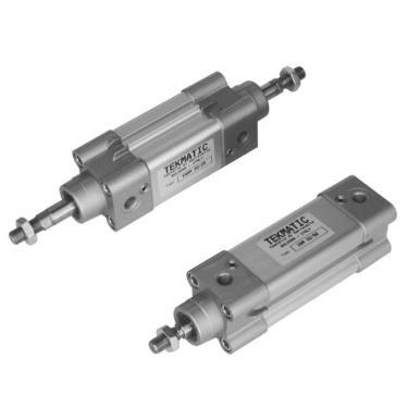 Cilindro a doppio effetto ammortizzato ISO 15552 Alesaggio 32 mm Corsa 25 mm