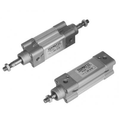 Cylinders double acting cushioned ISO 15552 Bore 63 mm Stroke 25 mm