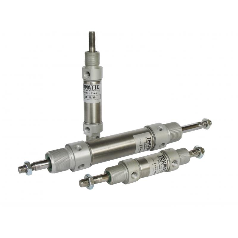 Cylinders ISO 6432 double acting cushioned magnetic piston Bore 25 Stroke 100