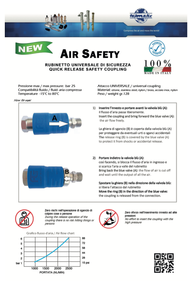 AIR SAFETY RUBINETTO UNIVERSALE